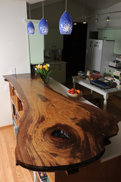 Walnut Slab Breakfast Bar