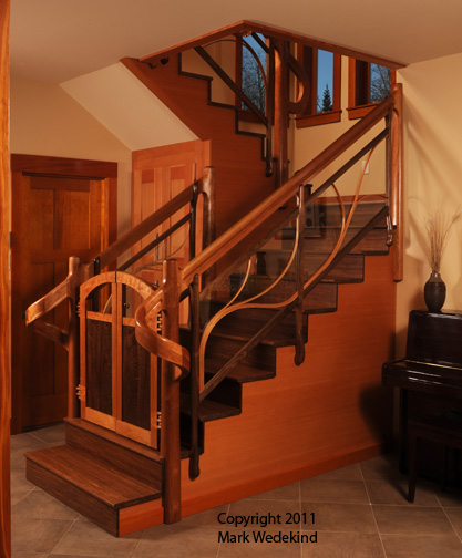 Sculpted Staircase Railing