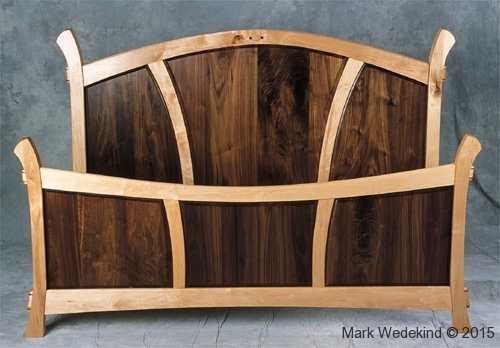Walnut Panel Bed