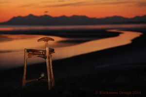 Cherry Stool at sunset on Turnagain Arm