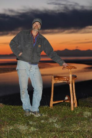 Me and the cherry stool at sunset.